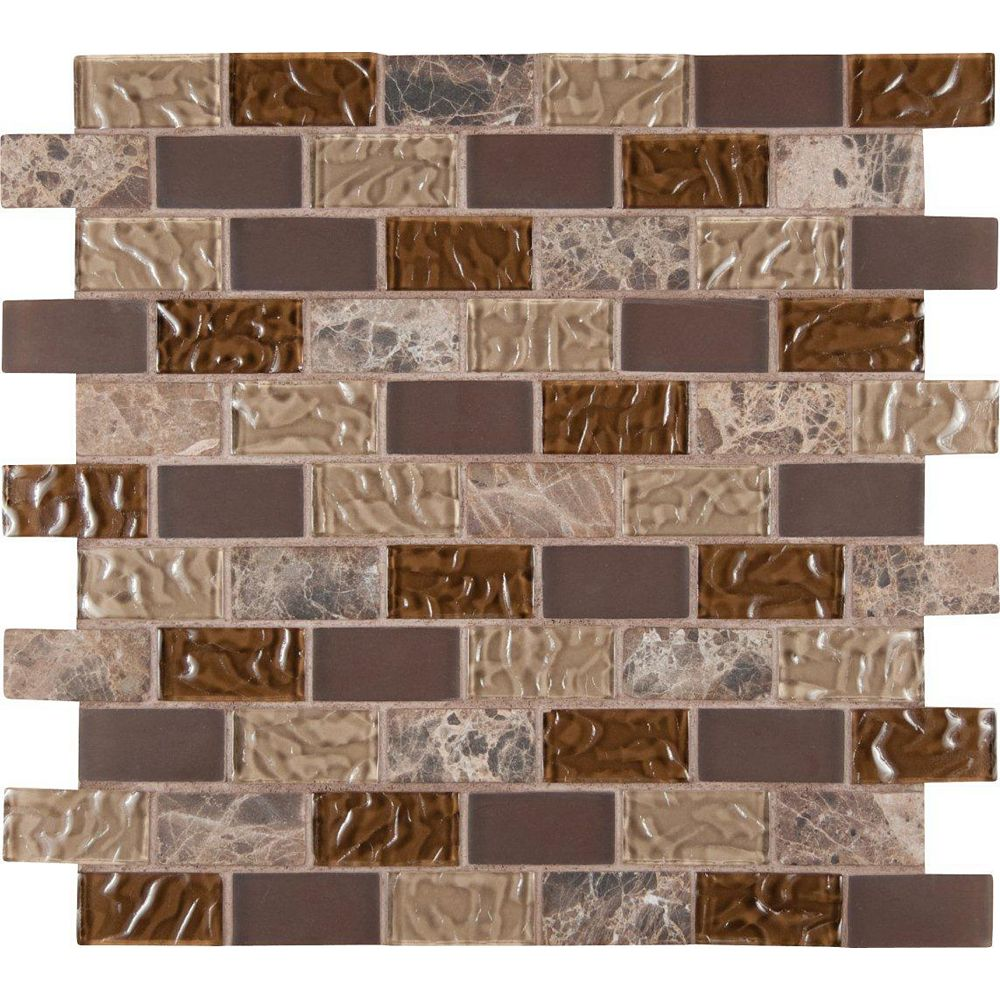 MSI Stone ULC Sonoma Blend 12-inch x 12-inch x 8 mm Glass Stone Mesh-Mounted Mosaic Tile