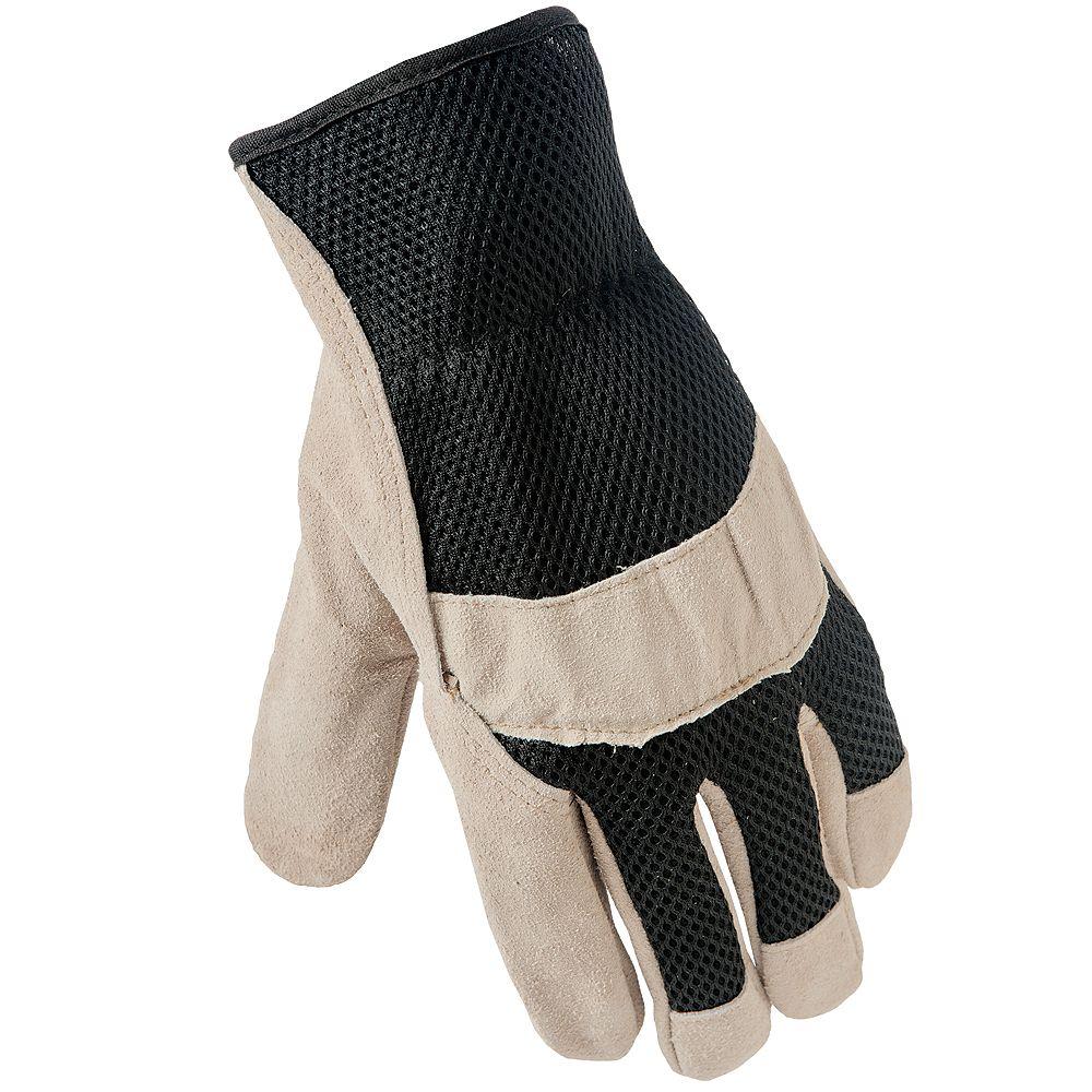 Firm Grip Gant en cuir avec dos en filet - Grand