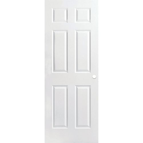 Porte intérieure pré-percée 6 panneaux texturée apprêtée 28 pouces x 80 pouces