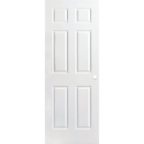 30-inch x 80-inch Primed Textured 6 Panel Interior Door Slab