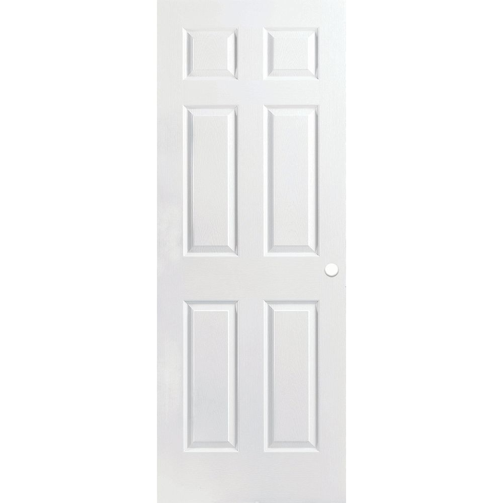 Masonite 30-inch x 80-inch Primed Textured 6 Panel Interior Door Slab