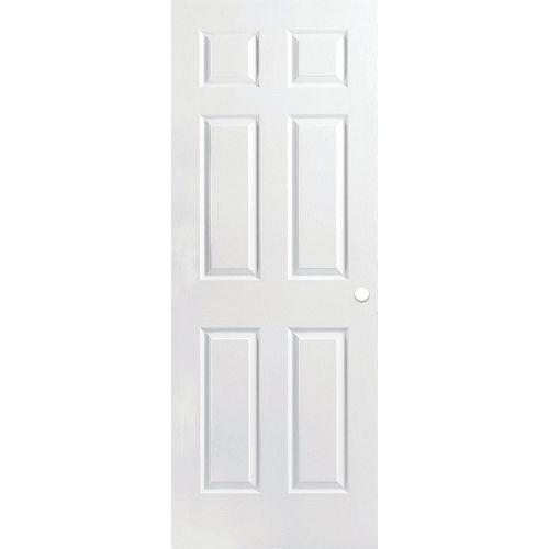 Masonite 32-inch x 80-inch Primed Textured 6 Panel Interior Door Slab