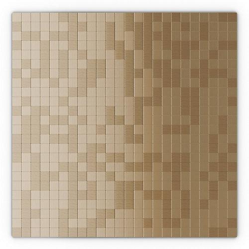 Sahara Light Copper 11.50-inch x 11.50-inch x 5 mm Metal Self Adhesive Wall Mosaic Tile