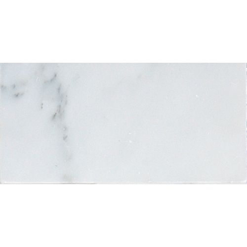 Grecian White 3-inch x 6-inch Polished Marble Floor and Wall Tile (1 sq. ft. / case)