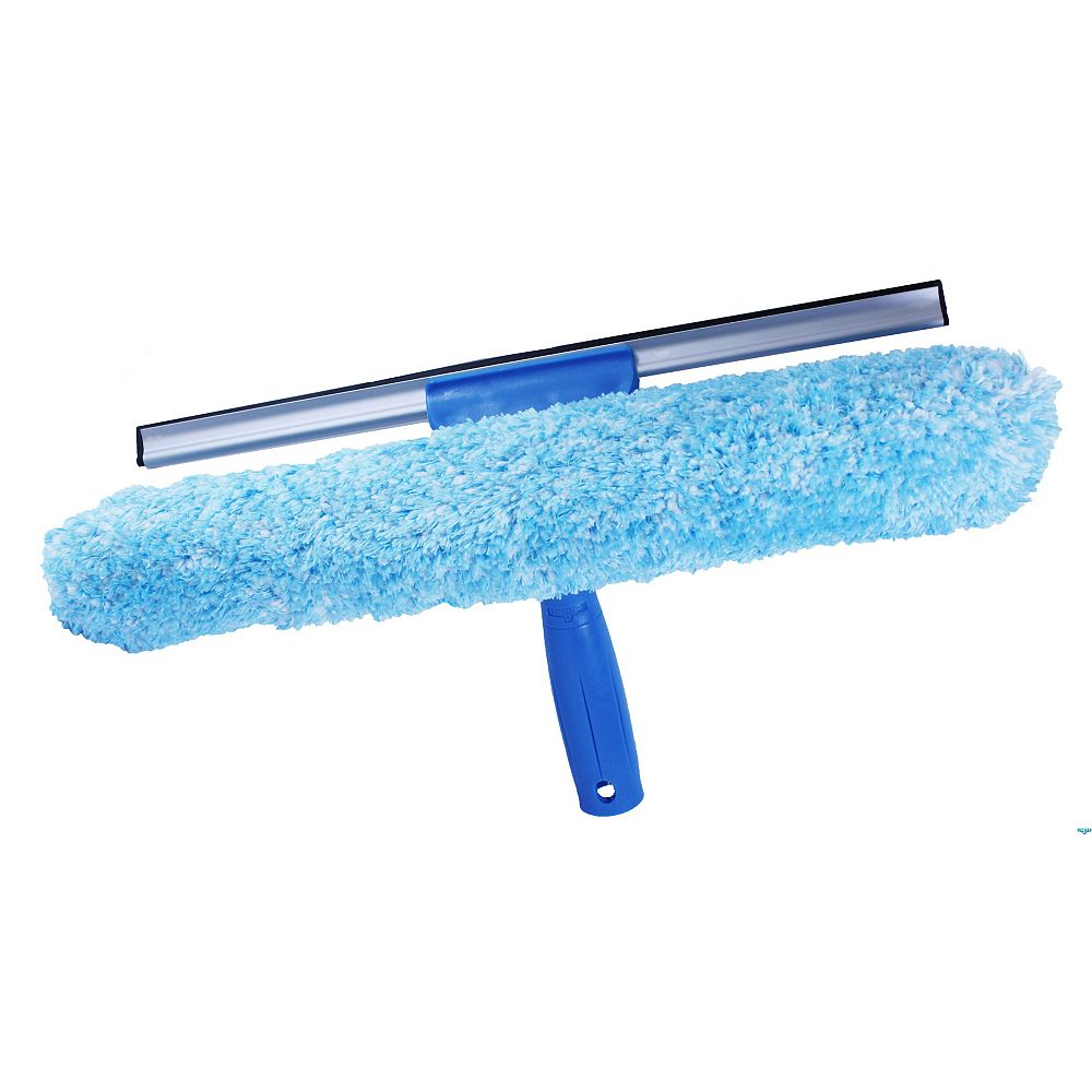Unger 10-inch Microfiber Combi-Squeegee Scrubber Connect and Clean Locking System