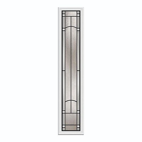Idlewild 8-inch x 48-inch Sidelight Patina Caming with HP Frame