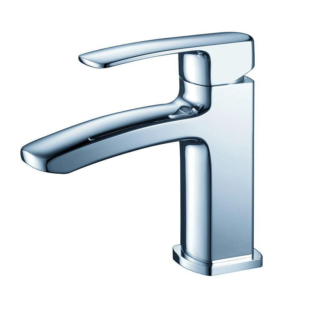 Fresca Fiora Single Hole 1-Handle Low Arc Bathroom Faucet in Chrome with Lever Handle