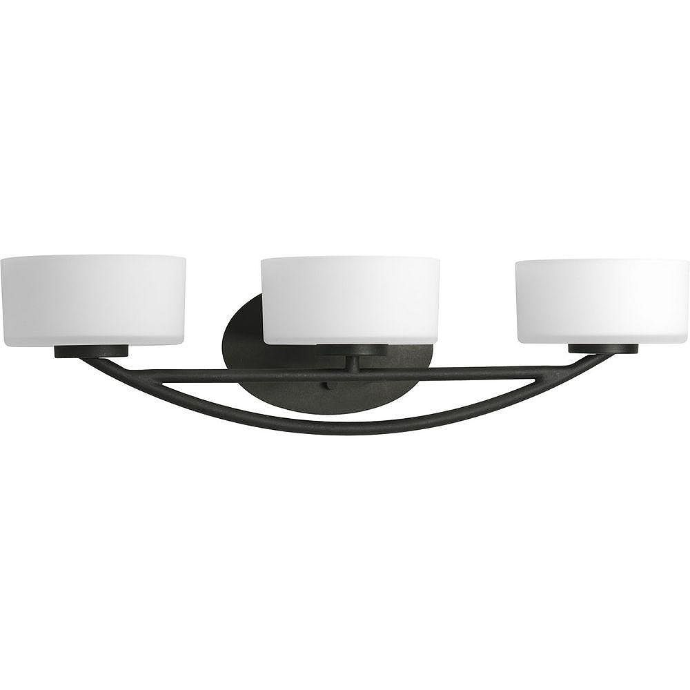 Progress Lighting Calven Collection Forged Black 3-light Vanity Fixture
