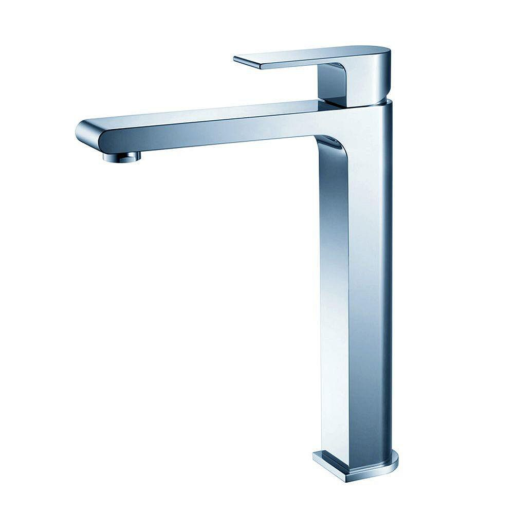 Fresca Allaro Single Hole 1-Handle Low Arc Bathroom Faucet in Chrome with Lever Handle