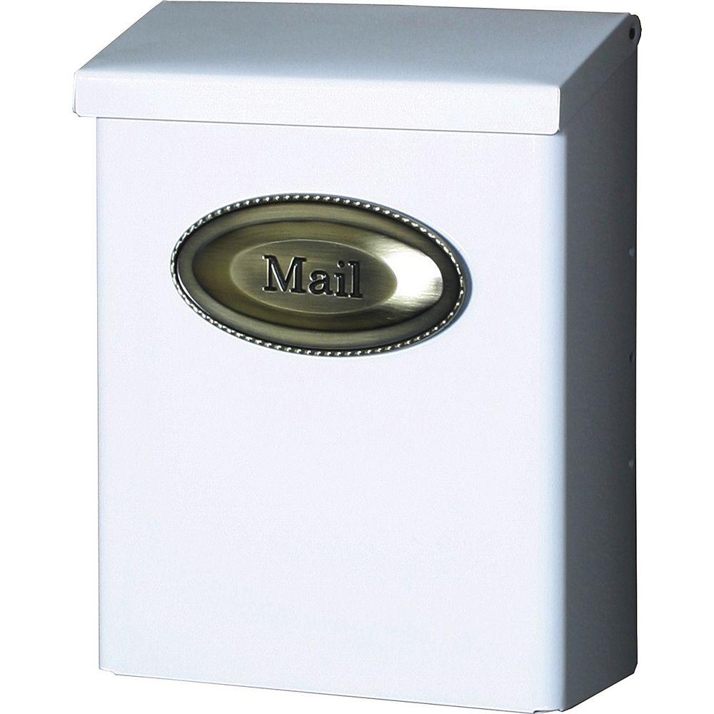 Gibraltar Industries White Designer Wall-Mount Mailbox