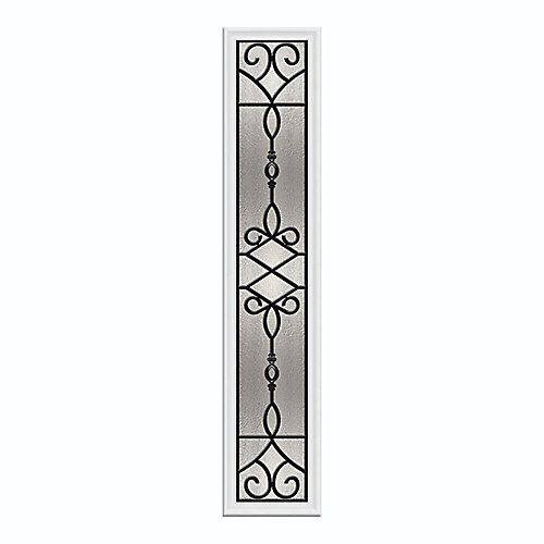 Sanibel 8-inch x 48-inch Sidelight Wrought Iron with HP Frame