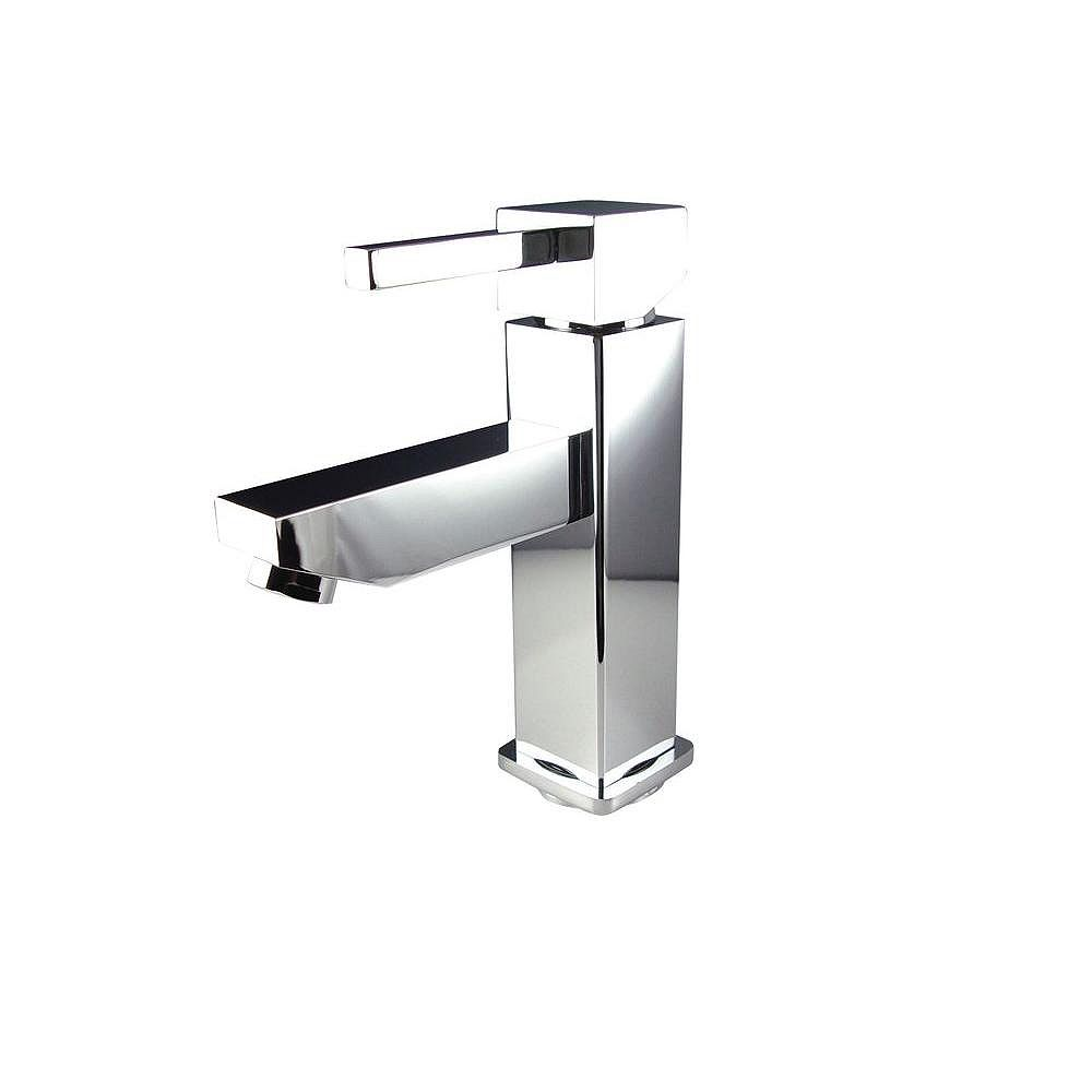 Fresca Bevera Single Hole 1-Handle Low Arc Bathroom Faucet in Chrome with Lever Handle