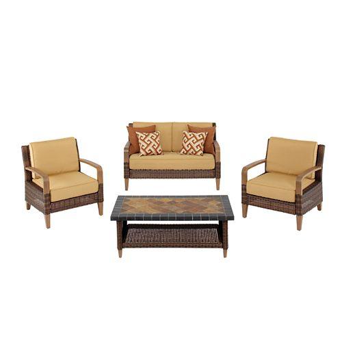 Hampton Bay Morris 4-Piece Patio Seating Set
