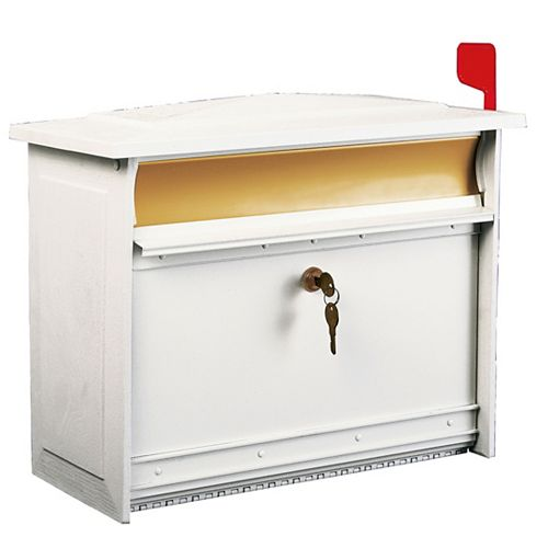 Gibraltar Industries White Mailsafe Wall-Mount Mailbox