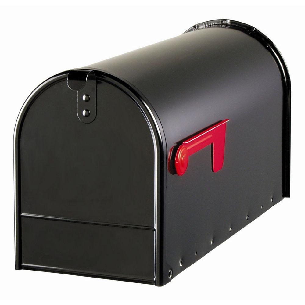Gibraltar Industries Elite 8 1/2-inch x 11-inch x 22-inch Curbside Mailbox in Black