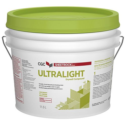 CGC Sheetrock UltraLight Drywall Compound, 11.5 L Pail