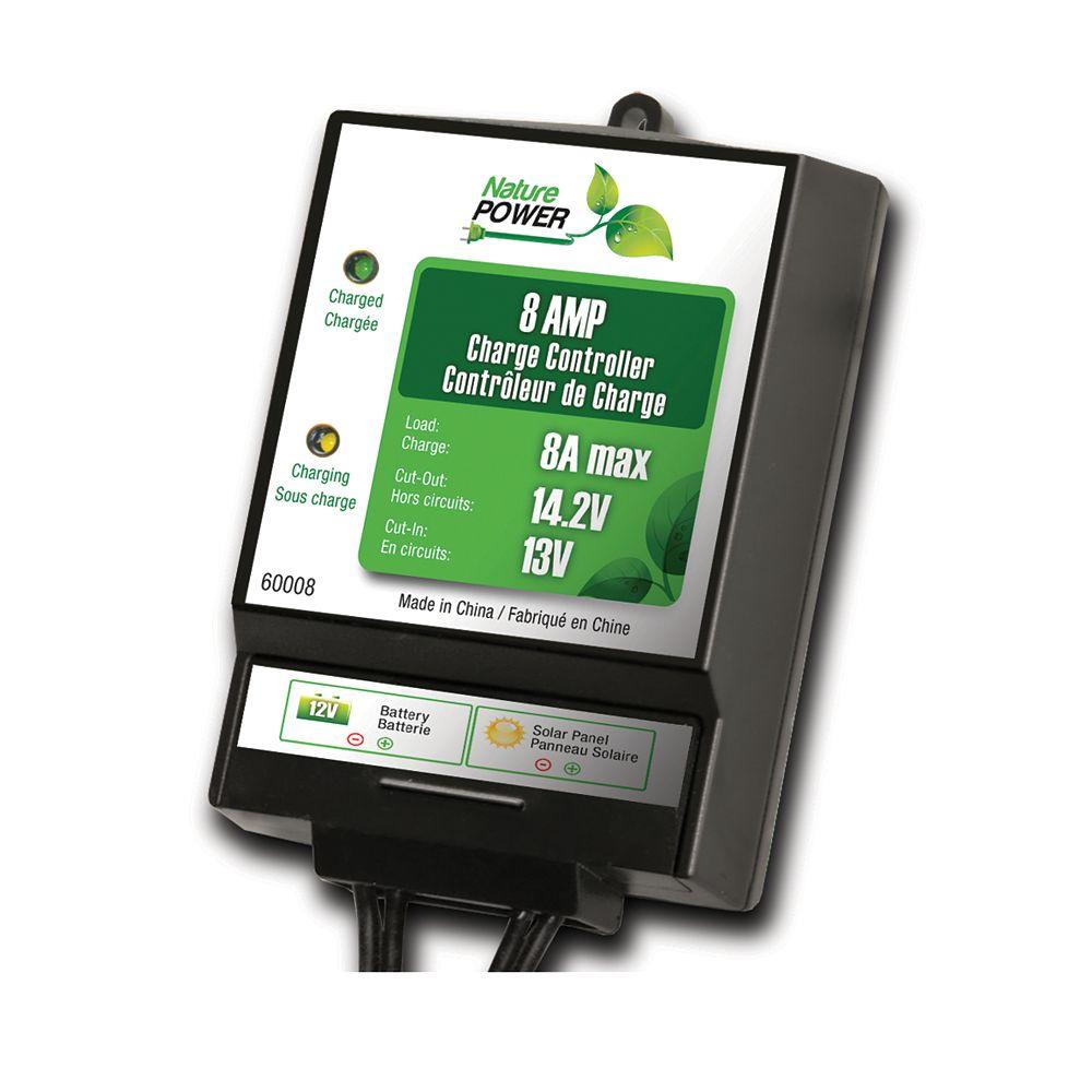 Nature Power 8-Amp/130-Watt 12-Volt Solar Power Charge Controller