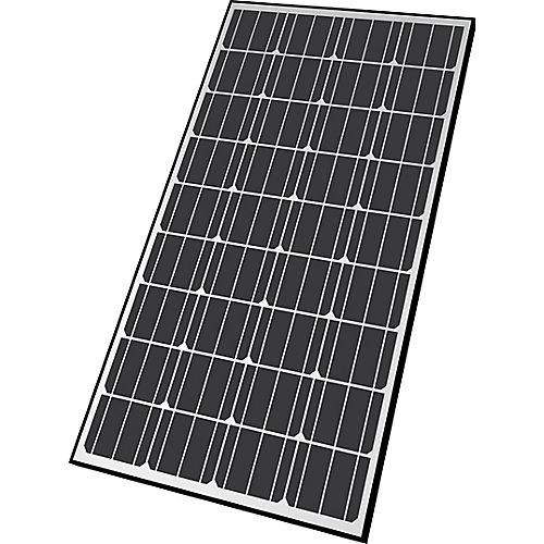 Panneau solaire monocristallin de 130 watts avec structure de soutien en aluminium