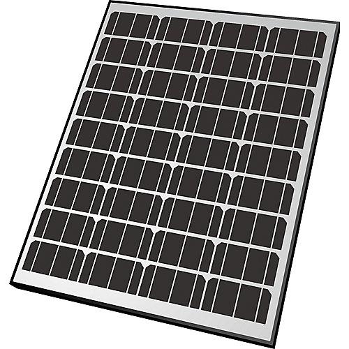 Panneau solaire monocristallin de 60 watts- Structure en aluminium - Chargeur pour batteries de 12 volts
