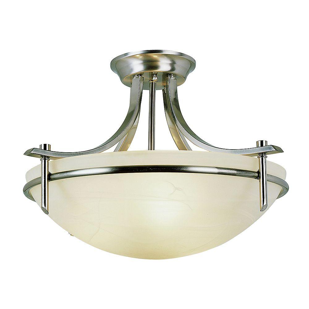 Bel Air Lighting Semi-plafonnier boulonné, nickel