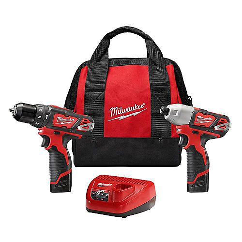 M12 12V Lithium-Ion Cordless Hammer Drill/Impact Driver Combo Kit (2-Tool) W/ (2) 1.5Ah Batteries