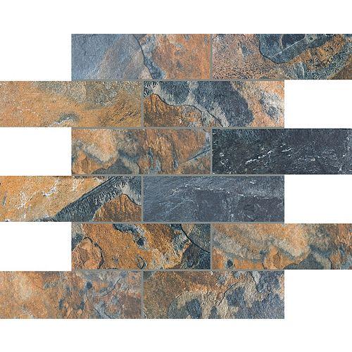 Enigma 2x6 Bengal Sierra Brick Mosaics