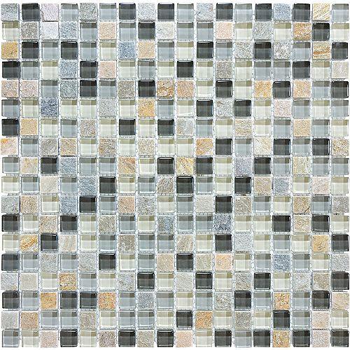 Mosaiques en Melange de Verre Bengal Sierra de 5/8 po x 5/8 po
