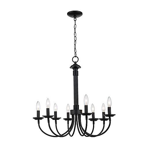 Black Hook 8-Light Candelabra