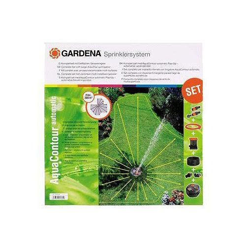 GARDENA Ensemble d'asperseurs escamotables pour grande surface AquaContour automatique