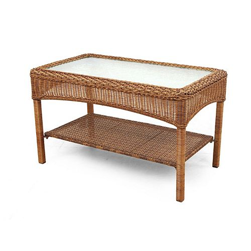 MSL Charlottetown Patio Coffee Table in Brown
