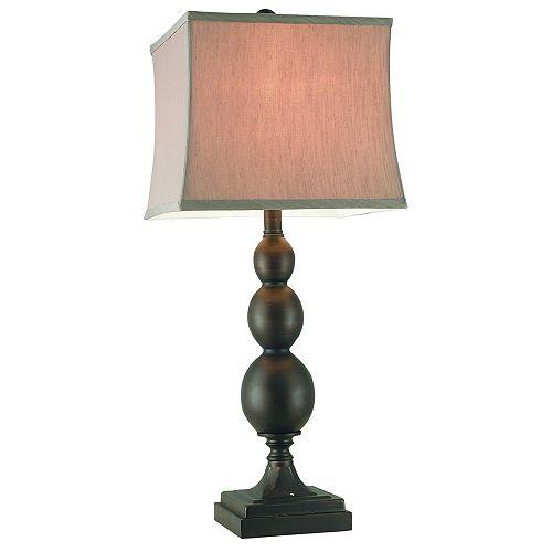 """CANTERBURY, LAMPE DE TABLE EN MÉTAL, 28.25"""""""