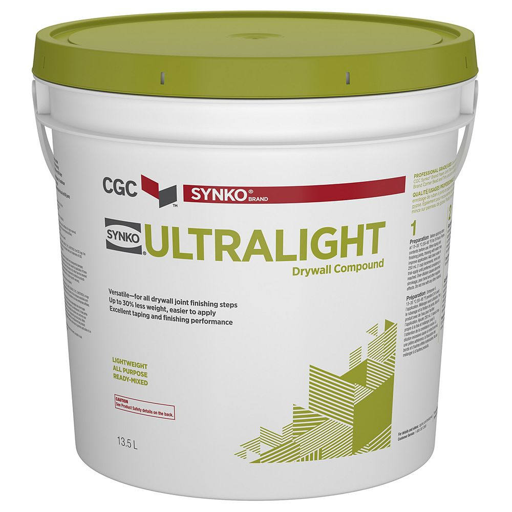 CGC Synko UltraLight Drywall Compound, 13.5 L Pail