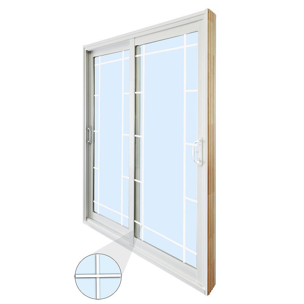 STANLEY Doors 71.75 inch x 79.75 inch Clear LowE Argon Prefinished White Double Sliding Vinyl Patio Door - ENERGY STAR®