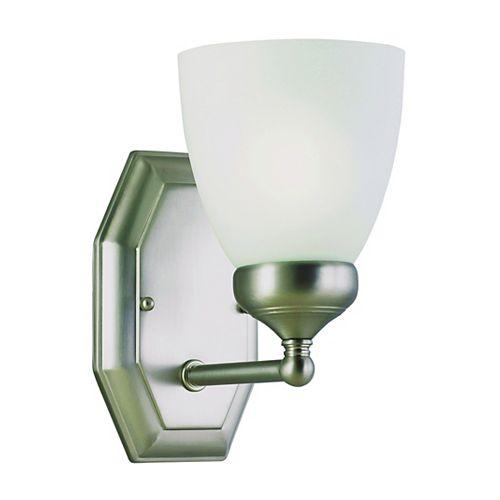 Bel Air Lighting Stewart 1-Light Brushed Nickel Incandescent Sconce