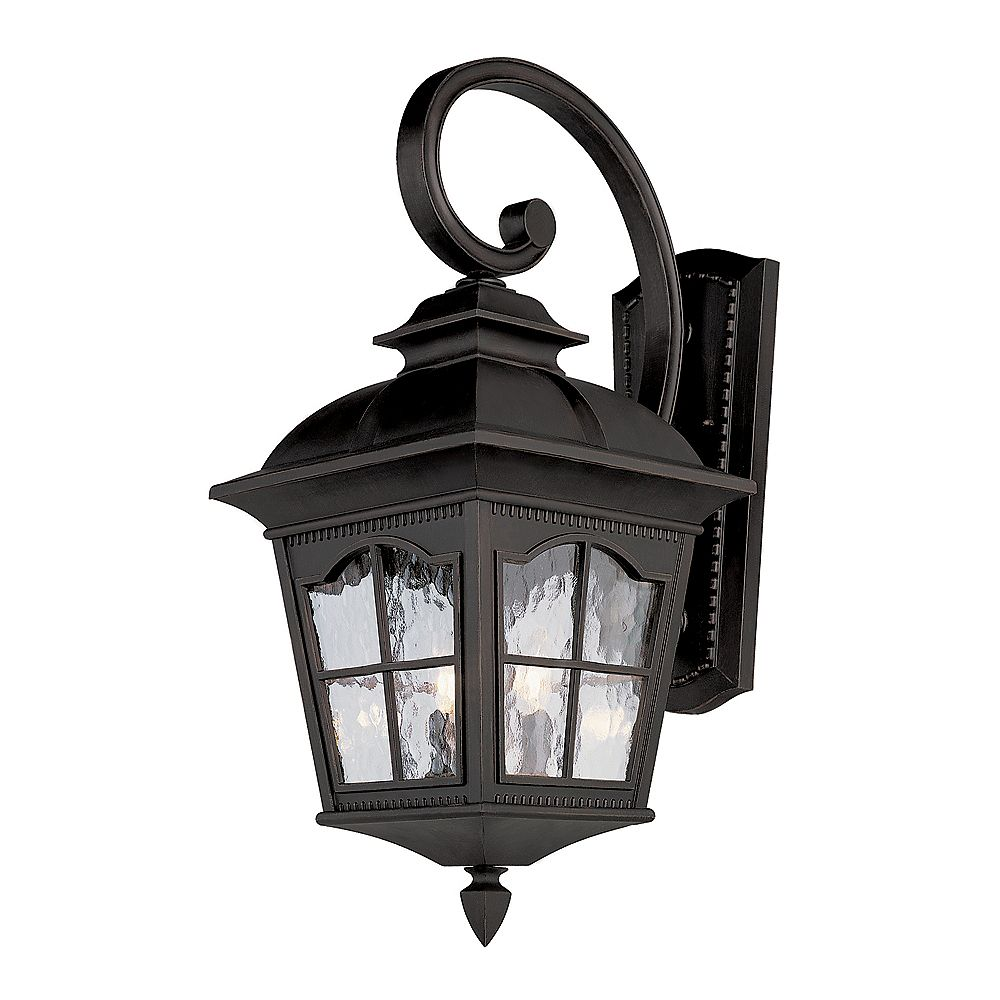 Bel Air Lighting Black Scalloped Window Wall Light - Small