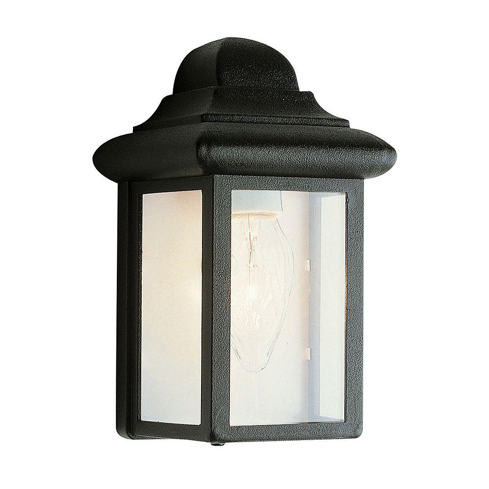Bel Air Lighting Luminaire de terrasse, verre transparent biseauté, noir, 20,32 cm (8 po)