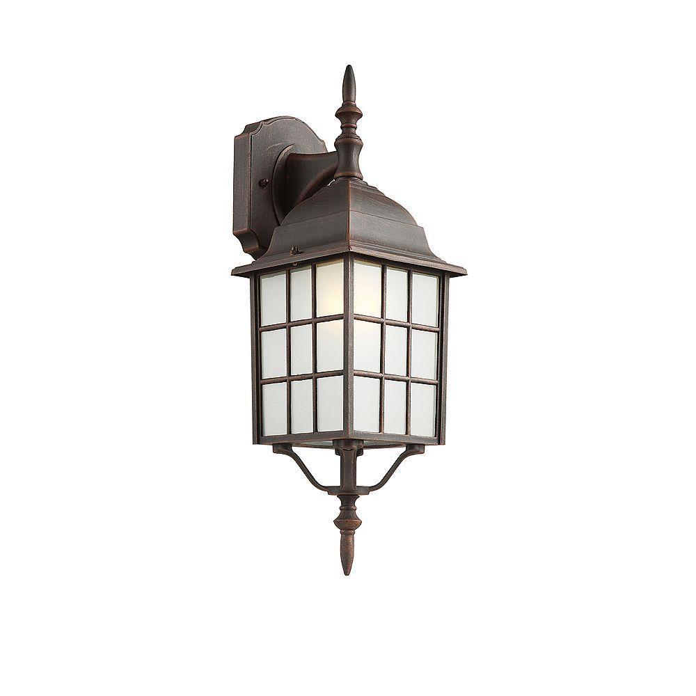Bel Air Lighting Lanterne armature et facettes, rouille