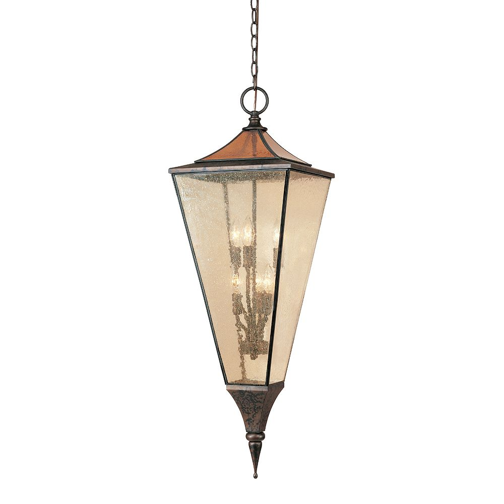 World Imports Amber Rays Collection Flemish 12 In. 6-Light Hanging Lantern
