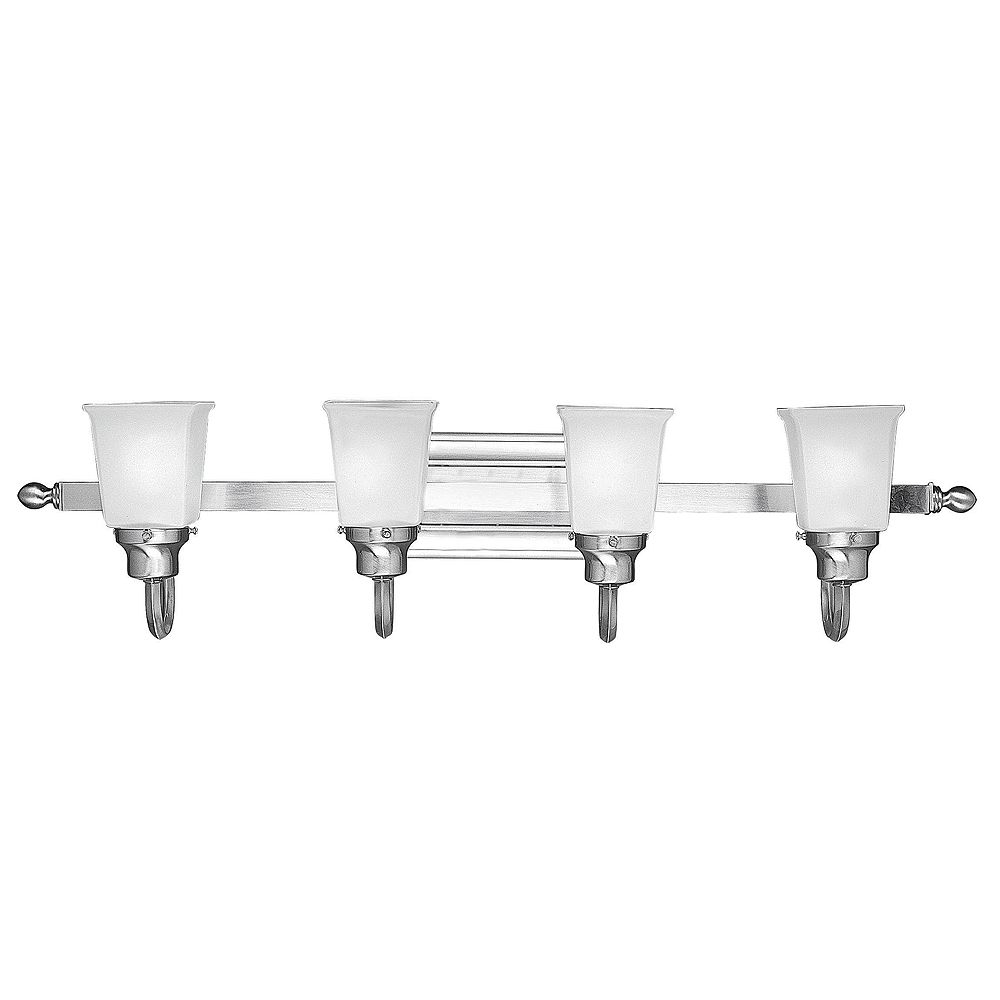 World Imports Bathgate Collection Pewter 4-Light Bath Bar