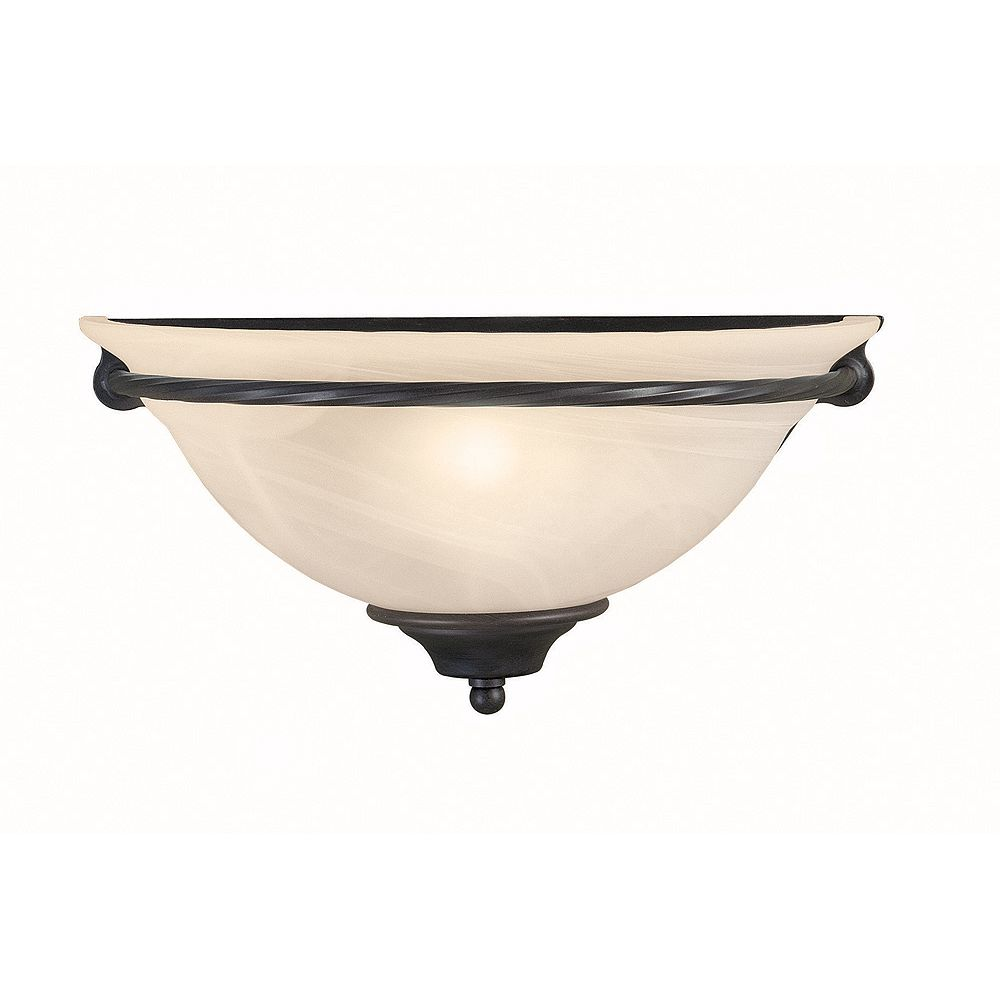 World Imports Bern Collection 1-Light Wall Sconce in Rust