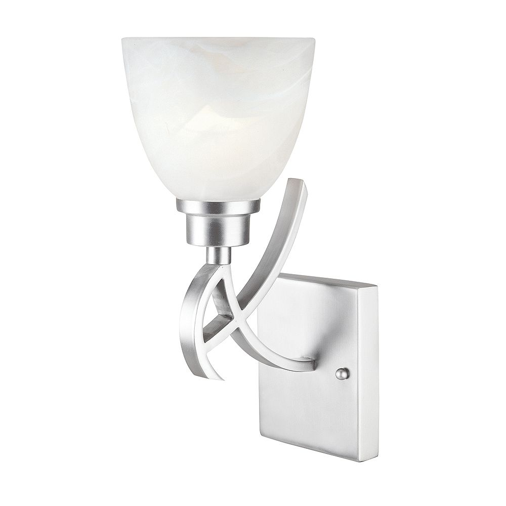 World Imports Beyond Modern Collection 1-Light Wall Sconce in Brushed Nickel