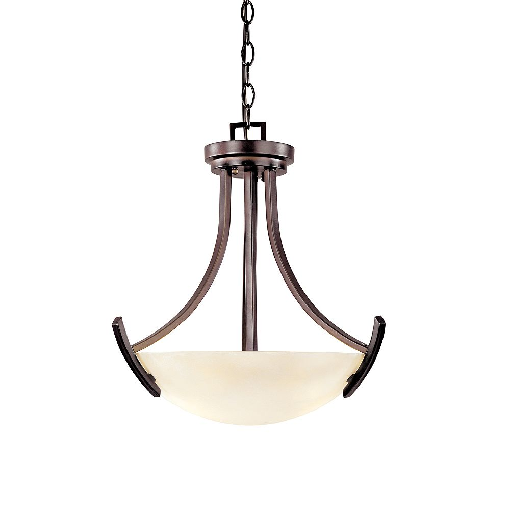 World Imports Beyond Modern Collection 5-Light Chandelier in Weathered Copper