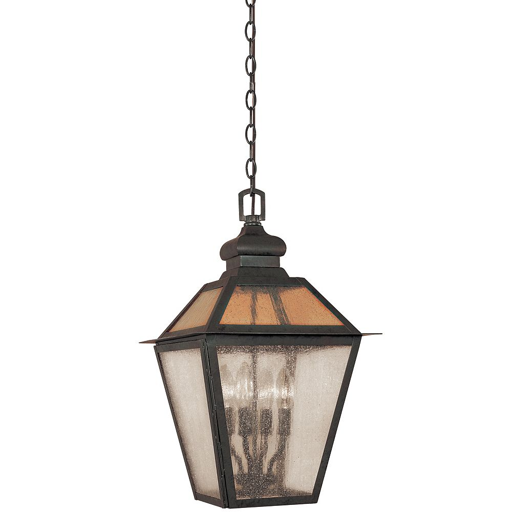 World Imports Cairns Collection Flemish 13 In. 4-Light Hanging Lantern