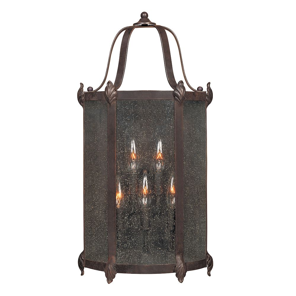 World Imports Old Sturbridge Collection 12 in. 6-Light Outdoor Wall Lantern in Bronze