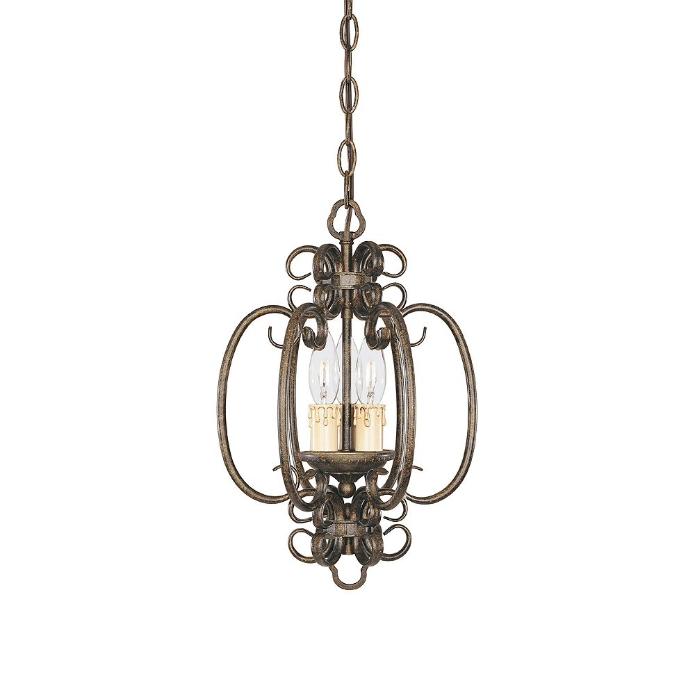 World Imports Sheffield Collection French Bronze 3-Light Dual Mount