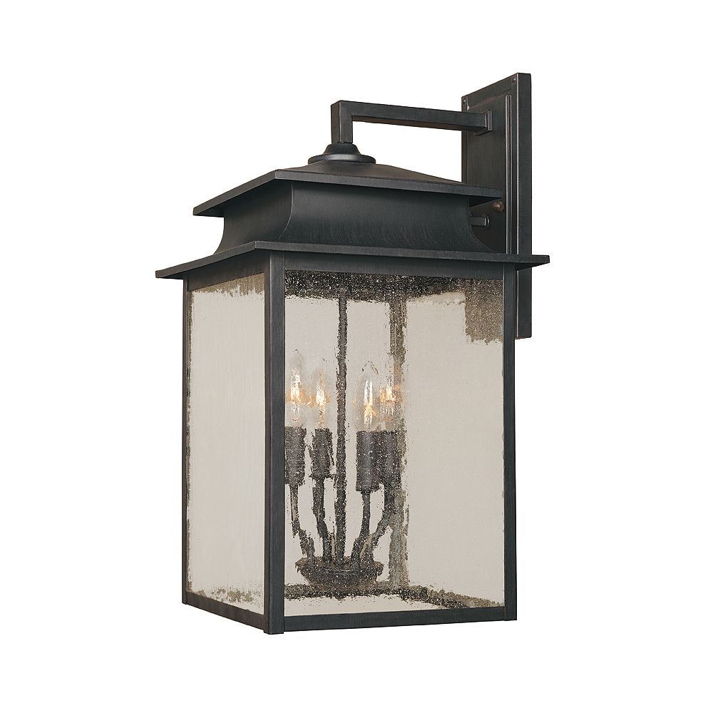 World Imports Sutton Collection 12 in. 4-Light Wall Sconce in Rust