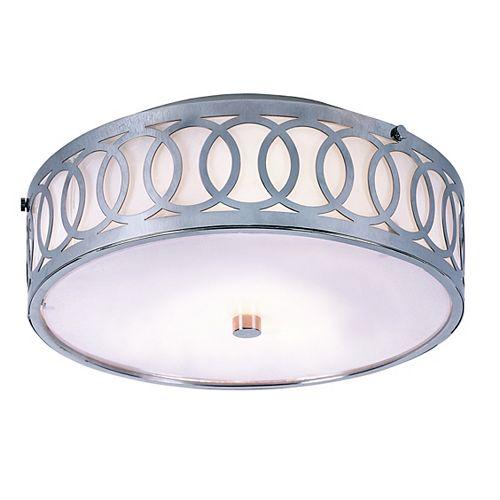 Bel Air Lighting Balboa 3-Light Polished Chrome Flushmount