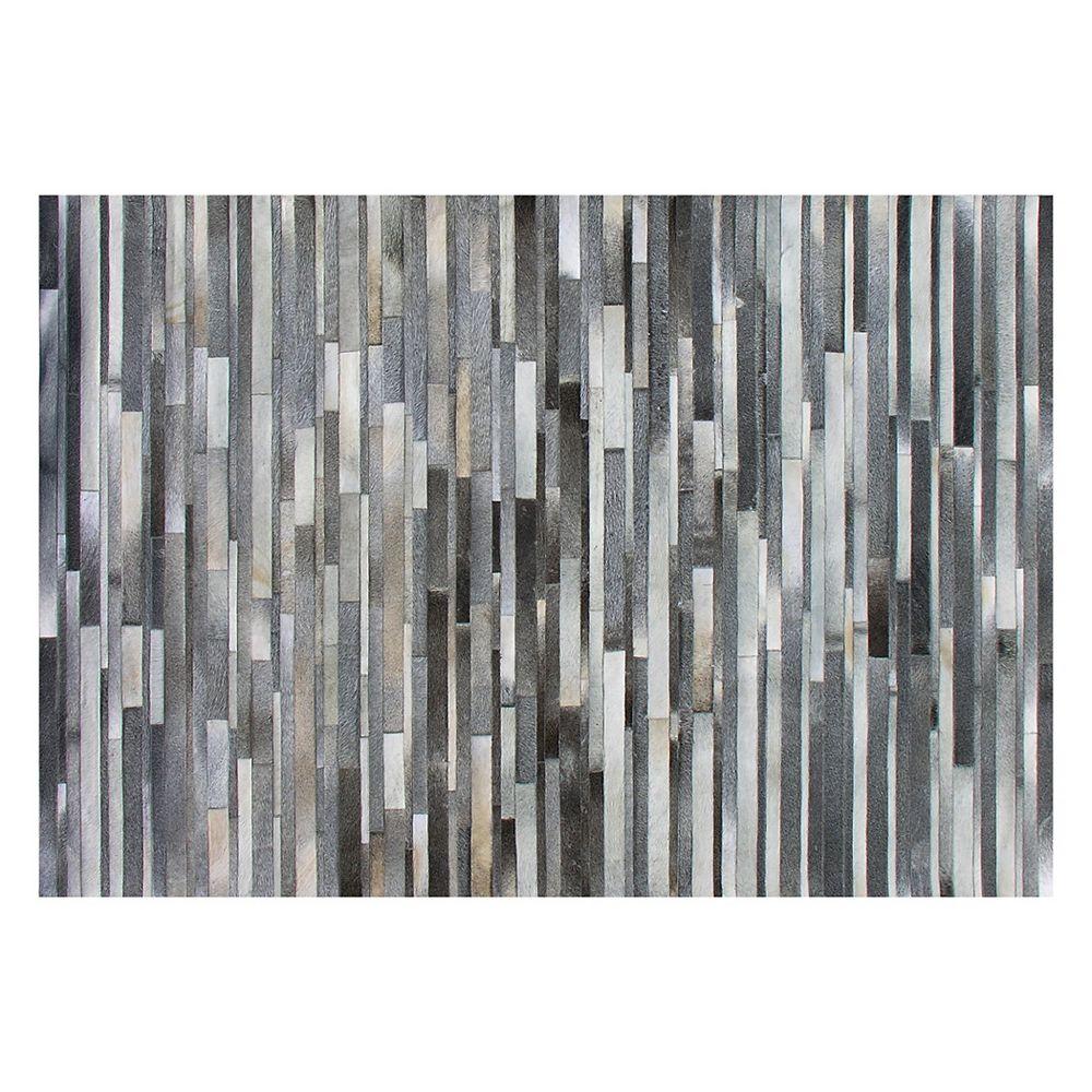 Auslini Grey 4 ft. x 6 ft. Rectangular Area Rug