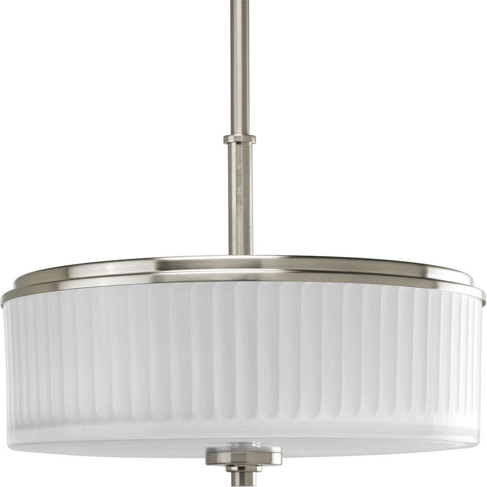 Progress Lighting Encore Collection Brushed Nickel 2-light Semi-flushmount