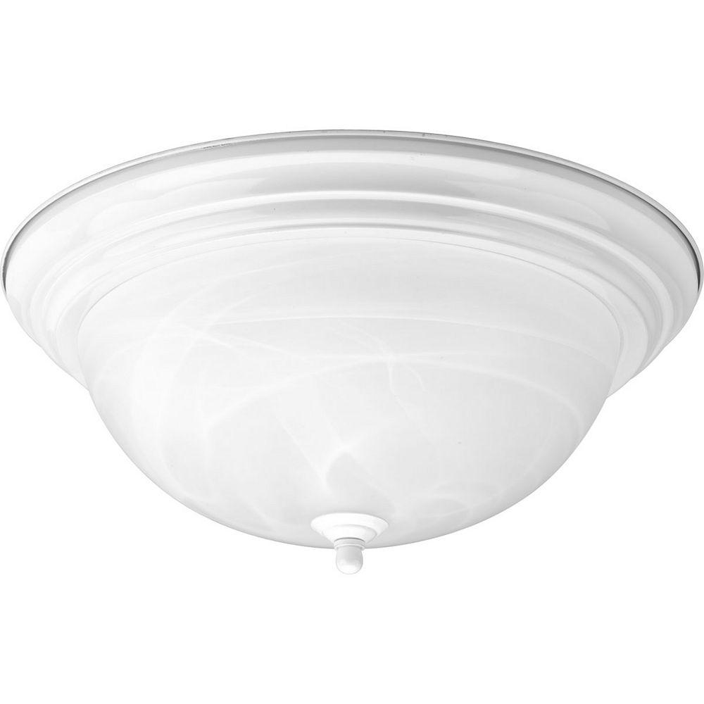 Progress Lighting White 3-light Flushmount